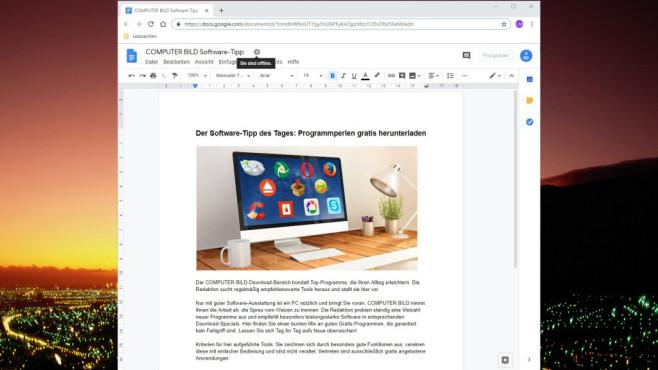 Google Docs Offline für Chrome ©COMPUTER BILD, Google
