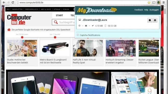 My JDownloader für Chrome ©COMPUTER BILD