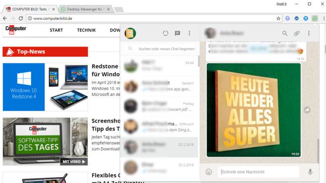 WhatsApp Desktop ©COMPUTER BILD
