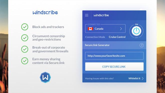 Windscribe VPN ©Windscribe, COMPUTER BILD