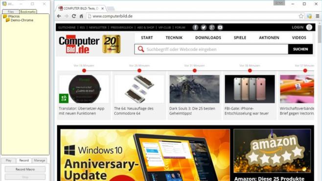 iMacros für Chrome ©COMPUTER BILD