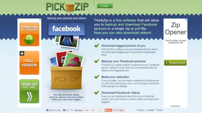 Pick & Zip ©Pick & Zip / Screenshot COMPUTER BILD