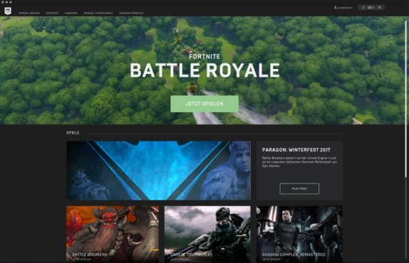 Epic Games Launcher © Epic Games