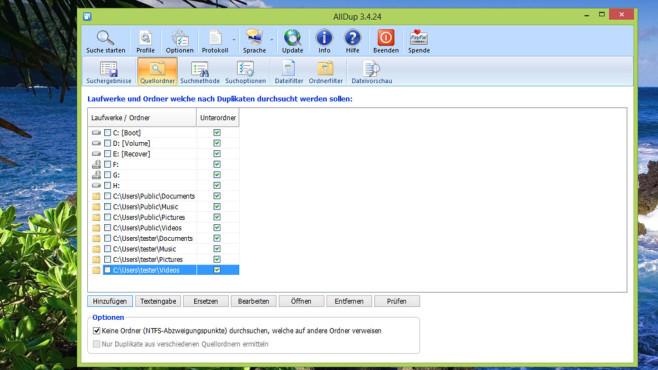 AllDup: Doppelt gespeicherte Dateien löschen ©COMPUTER BILD