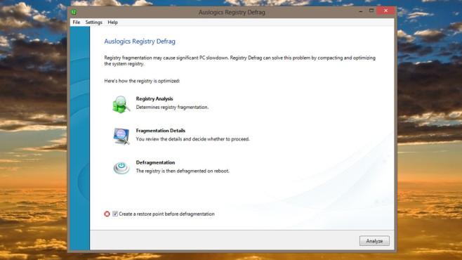 Auslogics Registry Defrag: Registrierungs-Datenbank optimieren ©COMPUTER BILD