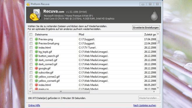 Recuva: Alte Datenschätze zurückholen ©COMPUTER BILD