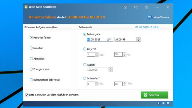 Wise Auto Shutdown: PC automatisieren ©COMPUTER BILD