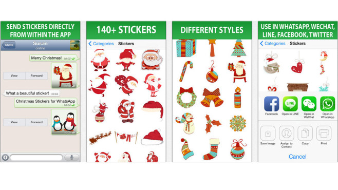 Christmas Stickers for WhatsApp and Chat ©Lidia Frias