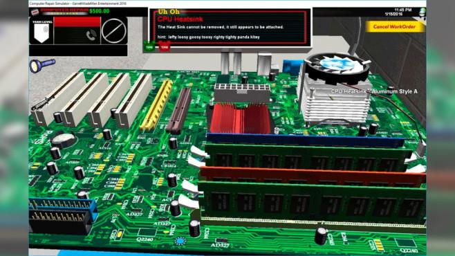 Computer Repair Simulator ©Garret Swindell