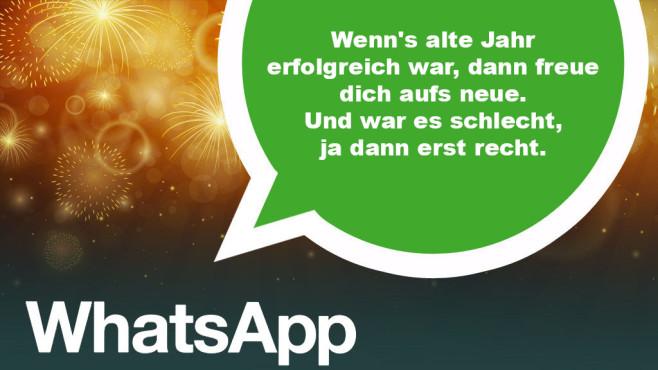 WhatsApp: Die 20+18 besten Neujahrsgrüße - Bilder, Screenshots ...