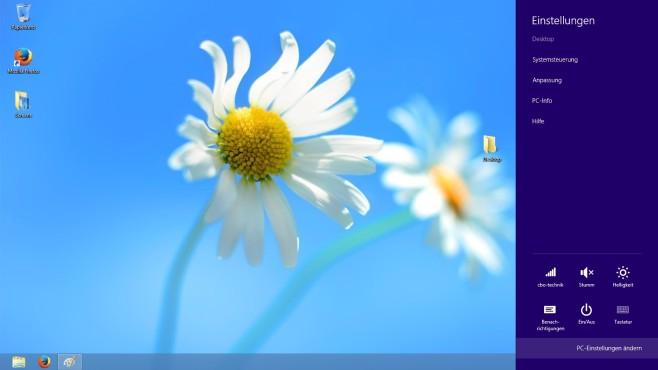Windows 8: Charms-Bar ©COMPUTER BILD