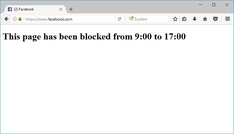 Screenshot 1 - Facebook Blocker für Firefox