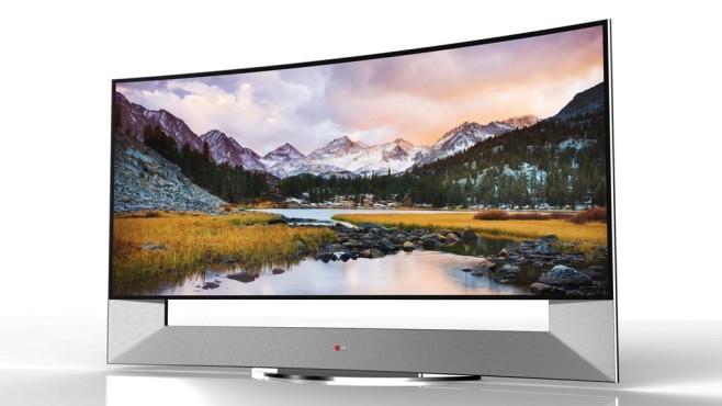 Lg 105ub9 4k Fernseher Mit Gebogenem 105 Zoll Display Audio Video