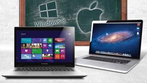 Erste Schritte mit Windows 8.1 und Maverick meistern©Microsoft, Apple, Lenovo, Burkhard Trautsch � Fotolia.com