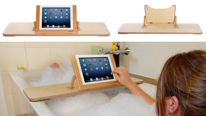Tublet, der Tablet-Halter für die Badewanne©Tublet