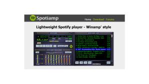 Spotify-Player im Winamp-Stil©Spotiamp