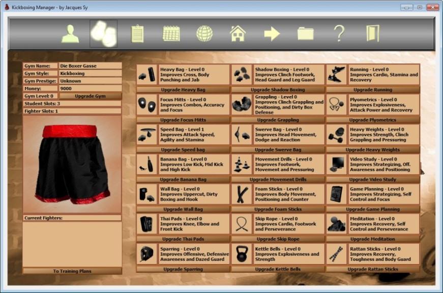 Screenshot 1 - Kickboxing Manager