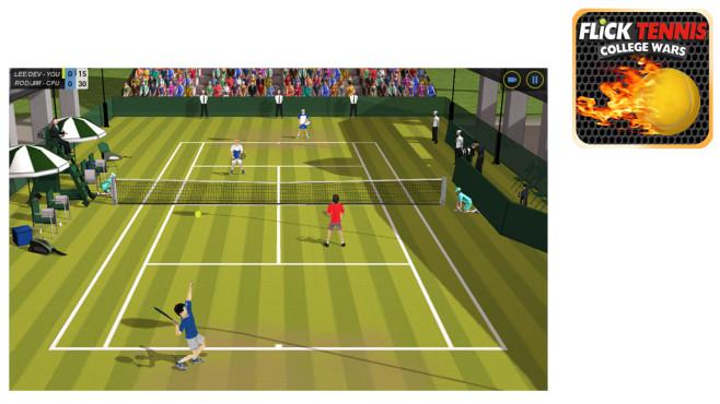 Flick Tennis ©Rolocule Games