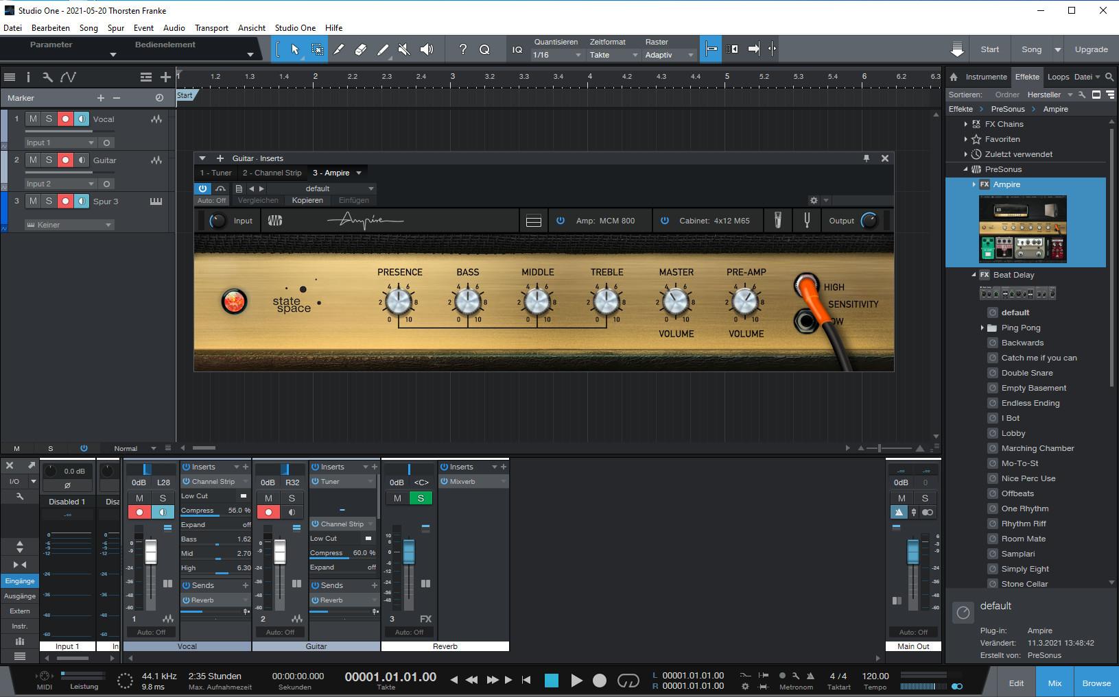 Screenshot 1 - Studio One Prime