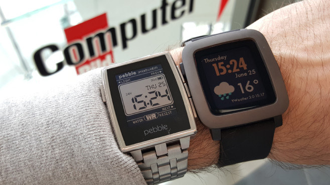 Pebble Steel vs Pebble Time © COMPUTER BILD
