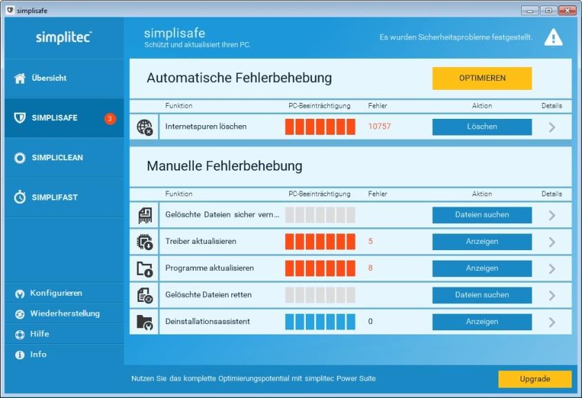 Screenshot 1 - Simplisafe