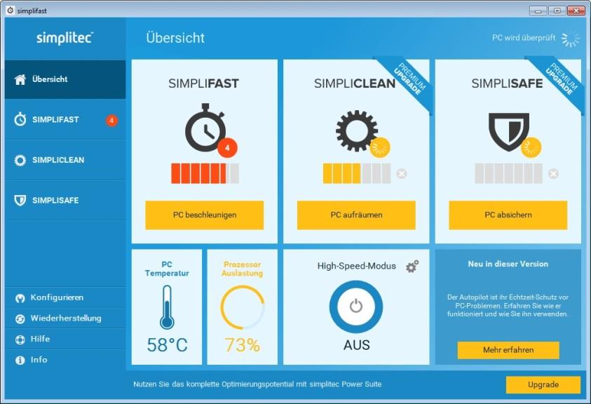 Screenshot 1 - Simplifast