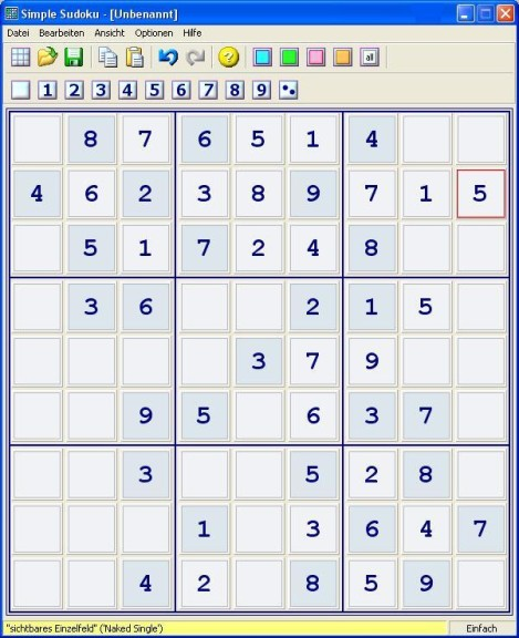Screenshot 1 - Simple Sudoku