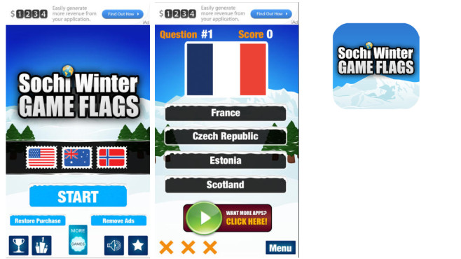Sotschi Winterspiele – Game Flags © App Holdings