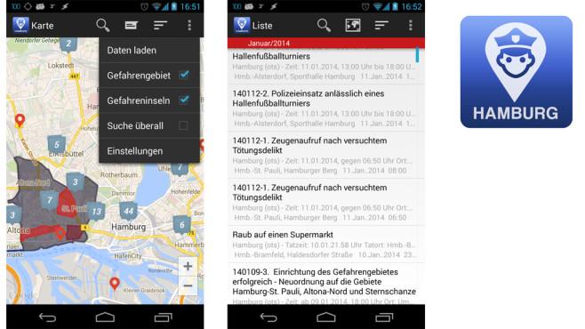 Hamburger Polizeimeldungen ©Incorporate Apps