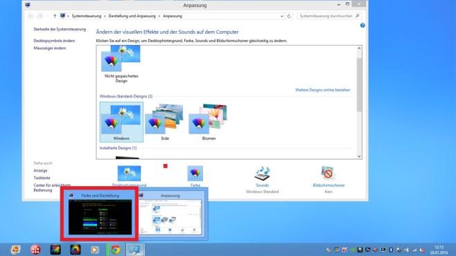 Windows 8: So holen Sie die Fenster-Transparenz zurück ©COMPUTER BILD