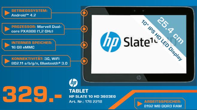 Hewlett-Packard HP Slate 10 HD 3603eg (F4X13EA) ©Saturn
