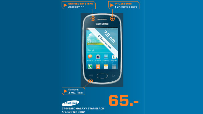 Samsung Galaxy Star ©Saturn