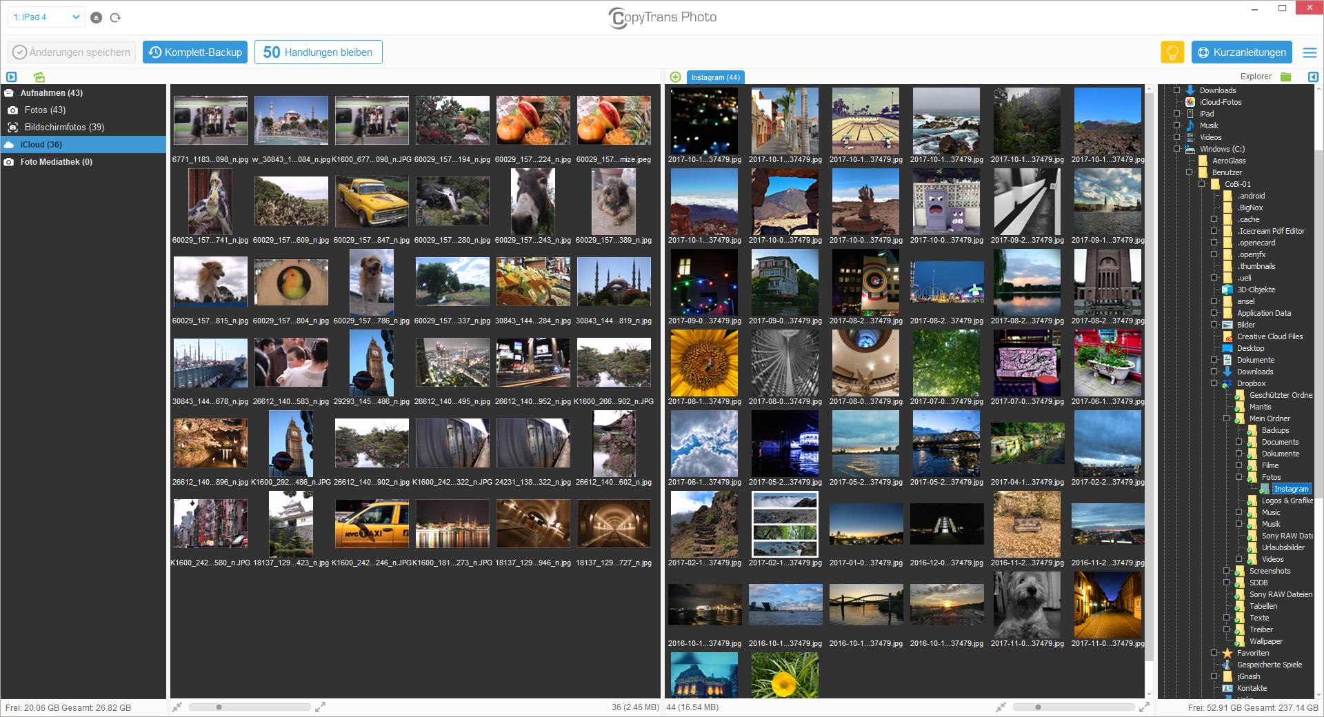 Screenshot 1 - CopyTrans Photo