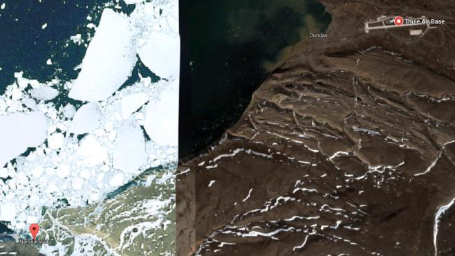 Narssârssuk (Grönland) ©Google, COMPUTER BILD