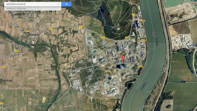 Nuklearanlage Marcoule (Frankreich) ©Google, COMPUTER BILD