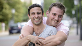 Glückliches homosexuelles Paar©mangostock - fotolia