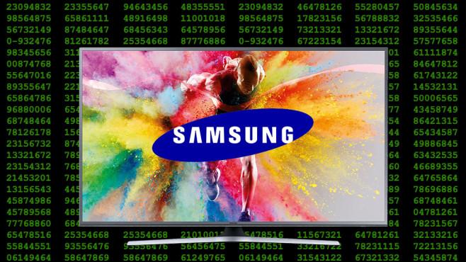 Smart-TVs mit Spionage-Funktion Sieht harmlos aus: Drückt man bei einem Fernsehprogramm mit HbbTV-Angebot auf die rote Fernbedienungs-Taste, erscheint das Auswahl-Menü mit Mediathek, Videotext und mehr.©Samsung, vlorzor-Fotolia.com