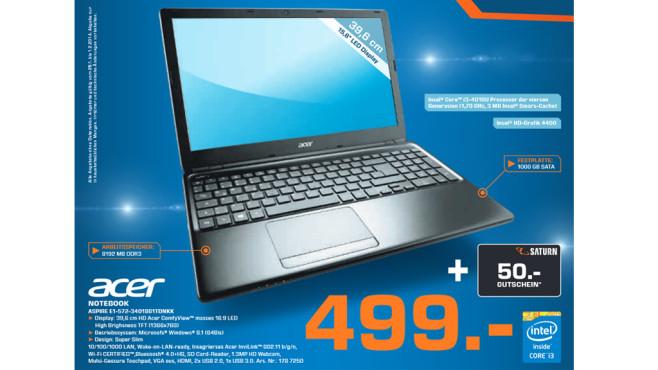 Acer Aspire E1-572-34018G1TDNKK ©Saturn