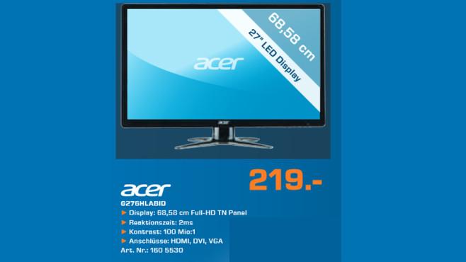 Acer G276HLAbid ©Saturn