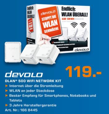 Devolo DLAN 500 Wifi Network Kit ©Saturn