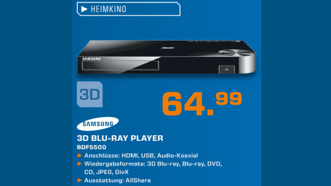 Samsung BDF5500 ©Saturn