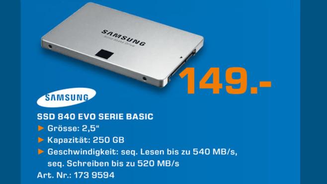 Samsung SSD 840 Serie Basic ©Saturn