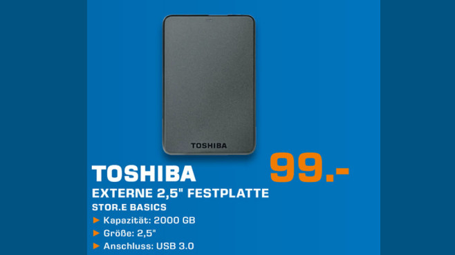 Toshiba Stor.e Basics ©Saturn