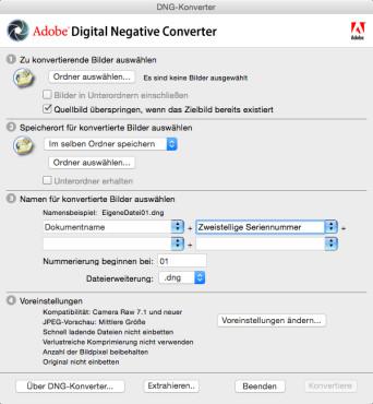 Screenshot 1 - Adobe DNG Converter & Camera Raw (Mac)