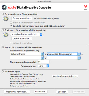 Adobe DNG Converter & Camera Raw (Mac)
