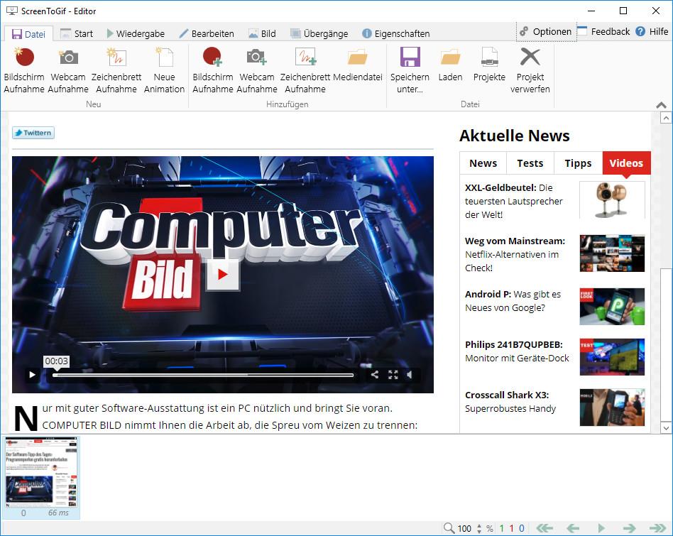 Screenshot 1 - Screen to GIF