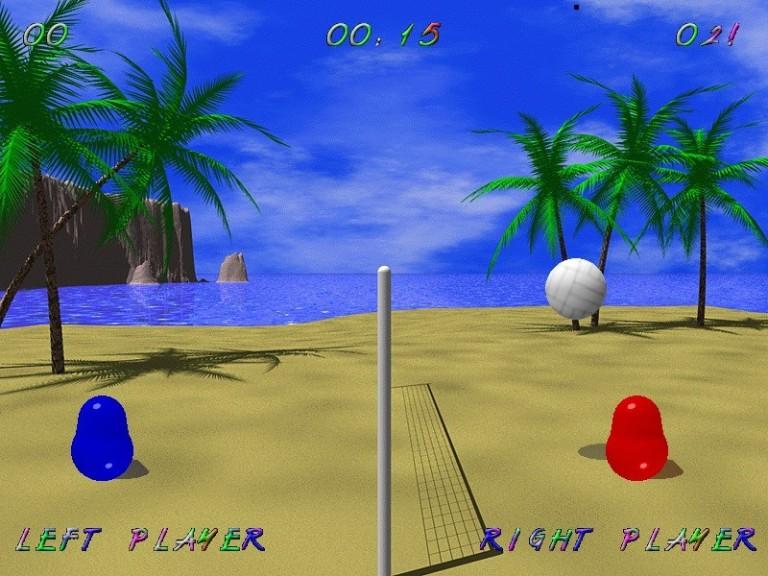 Screenshot 1 - Blobby Volley 2