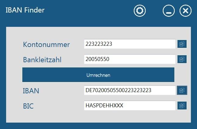 Screenshot 1 - IBAN Finder