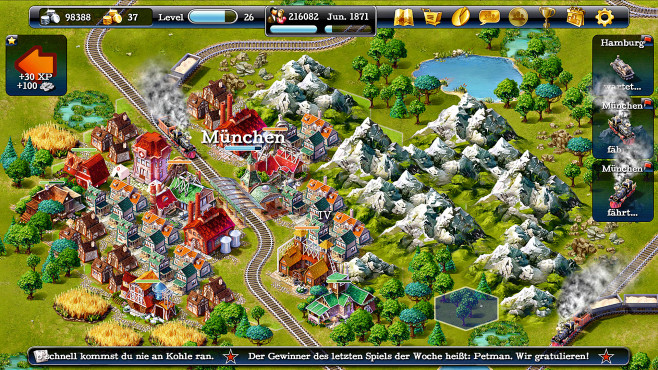 Steampower 1830 ©Hexagon Game Labs