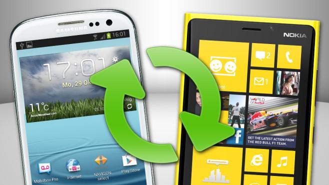 Daten von Handy zu Handy übertragen©Samsung, Nokia, Microsoft